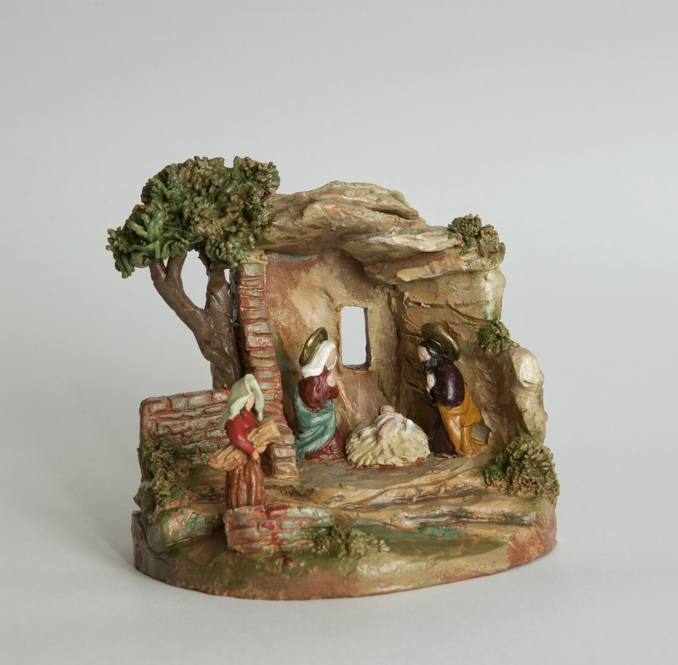 Presepe in terracotta dipinta