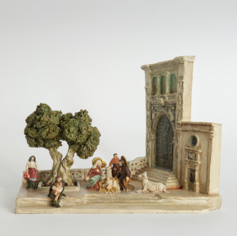 Presepe in terracotta dipinta
